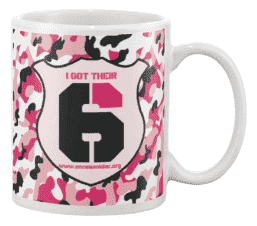 once a soldier pink camo coffee cup