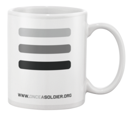 once a soldier coffee cup