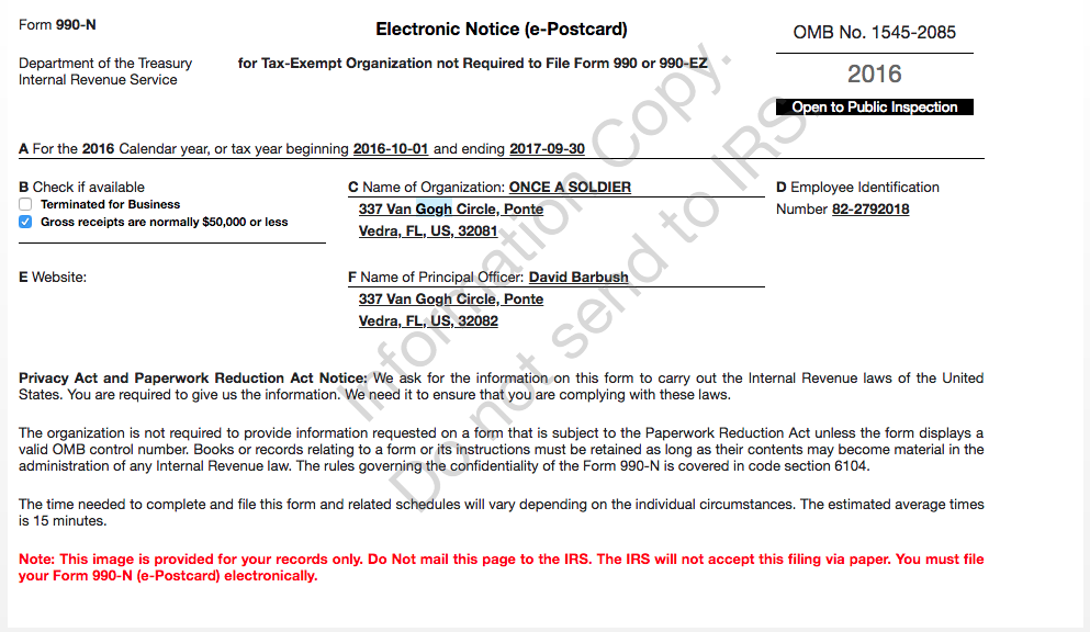 E Postcard Irs Form 990 N Choice Image Free Form Design Examples