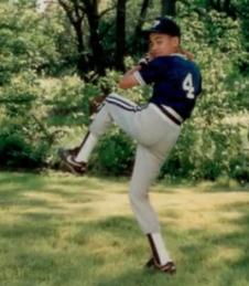 Cedrick Taylor pitching baseball