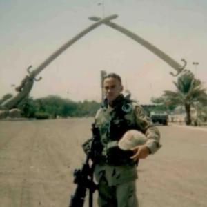 Cedrick Taylor in Baghdad, Iraq