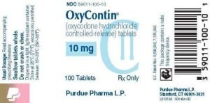 purdue pharma substance abuse oxycontin