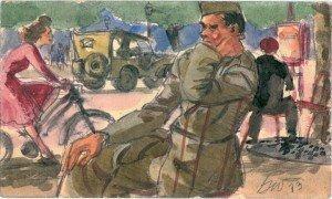 Soldier Thinking